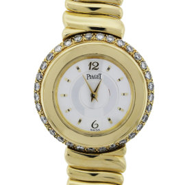 Piaget 20123 Gold and Diamond Bezel Ladies Watch