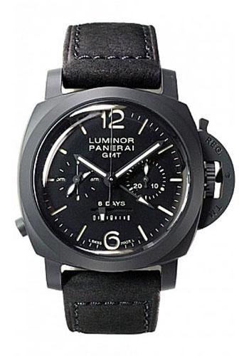 "Image of ""Panerai Luminor Pam00317 Black Ceramic / Leather 44mm Mens Watch"""