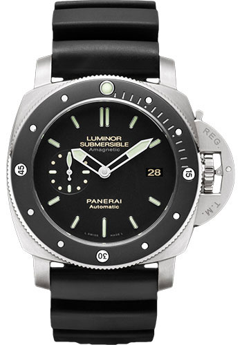 "Image of ""Panerai Luminar Titanium / Rubber Automatic 47mm Mens Watch"""