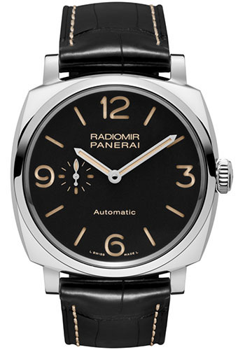 """Image of """"Panerai Radiomir Stainless Steel / Leather Automatic 45mm Mens Watch"""""""