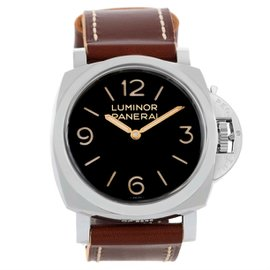 Panerai Luminor PAM00372 Stainless Steel & Black Dial 47mm Mens Watch