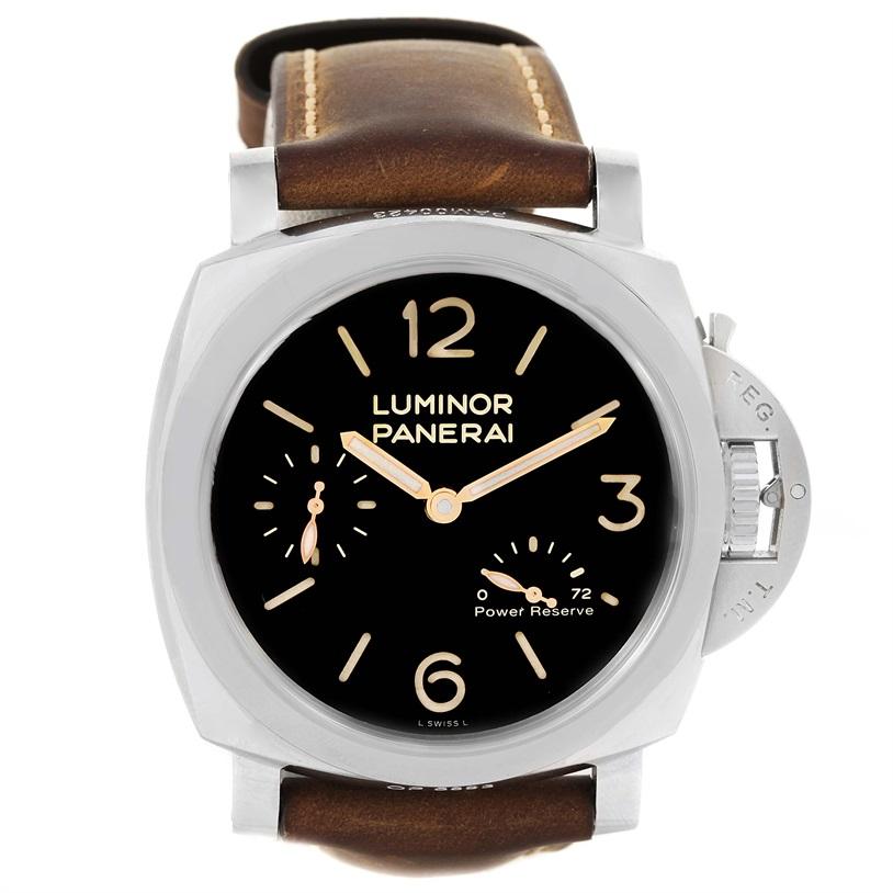 "Image of ""Panerai Luminor Pam00423 Stainless Steel & Black Dial 47mm Mens Watch"""
