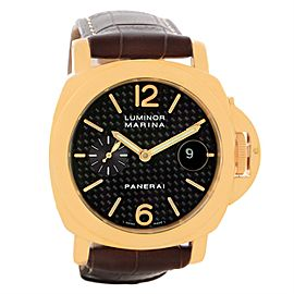 Panerai Luminor Marina PAM00140 18K Yellow Gold Automatic 44mm Mens Watch