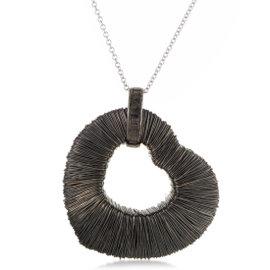 Pasquale Bruni Amor Est Vita 18K White Gold Wire Wrapped Heart Pendant Necklace