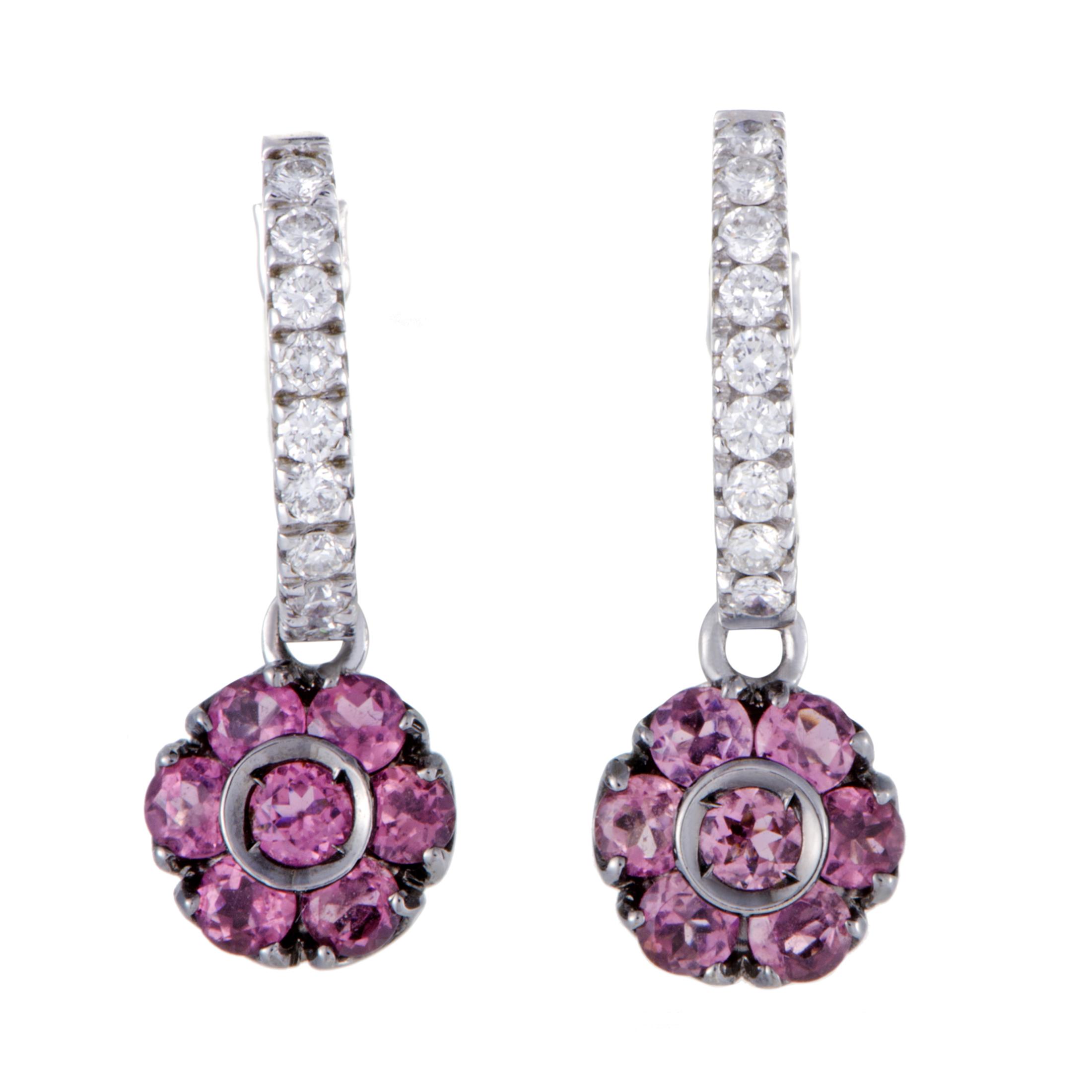 """""Pasquale Bruni Fiori 18K White Gold Diamond and Pink Tourmaline"""""" 1353335"