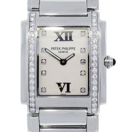 Patek Philippe Twenty-4 4910 Stainless Steel Diamond Dial 30mm Unisex Watch