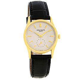 Patek Philippe Calatrava 3796 18K Yellow Gold Hobnail Bezel 30.5mm Mens Watch