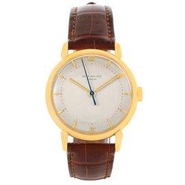 Patek Philippe Calatrava 2482 18K Yellow Gold & Leather Manual Vintage 36mm Mens Watch