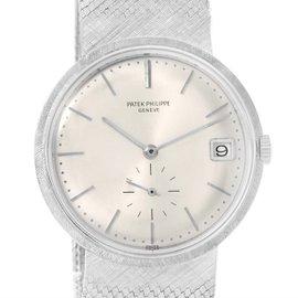 Patek Philippe Calatrava 3445 18K White Gold Vintage 35mm Mens Watch