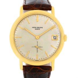 Patek Philippe Calatrava 3445 18K Yellow Gold & Leather Vintage Automatic 35mm Mens Watch