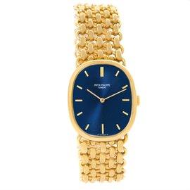 Patek Philippe Golden Ellipse 3648 18K Yellow Gold Blue Dial 22mm Unisex Watch