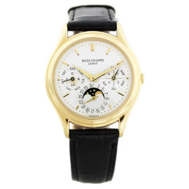 Patek Philippe 3940J Perpetual Calendar 18K Yellow Gold Mens Watch