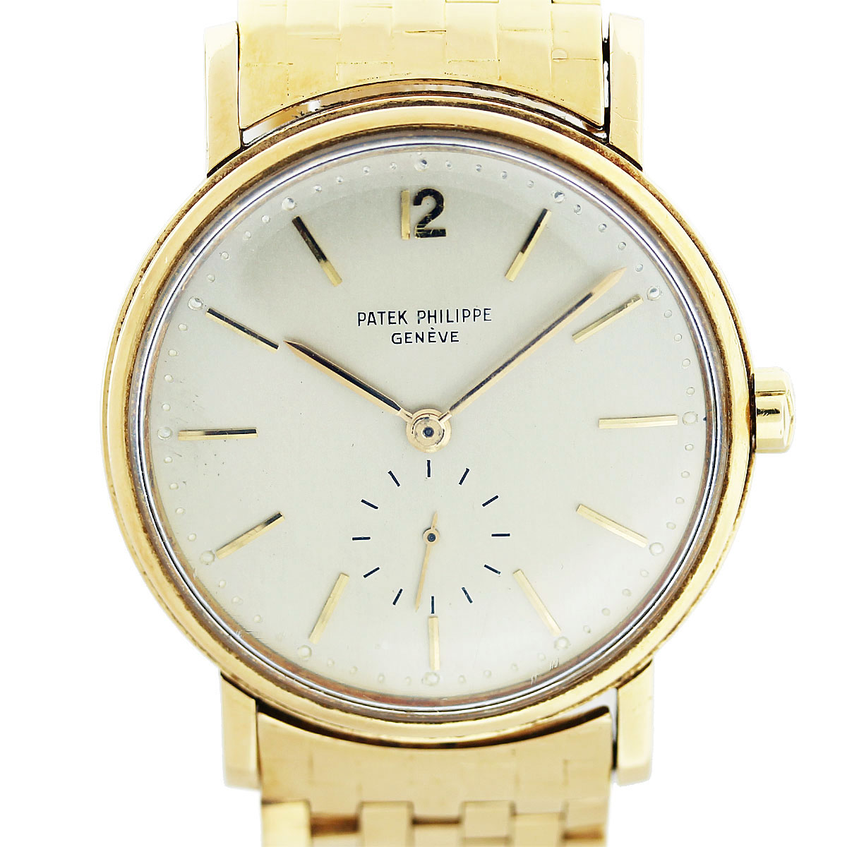 Patek Philippe 2548 Vintage 18K Yellow Gold 1950s Mens Watch
