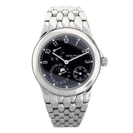 Patek Philippe 5085 Stainless Steel Power Reserve Moonphase Mens Watch