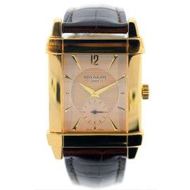 Patek Philippe Gondolo 5111J 18K Yellow Gold Vintage 33mm Mens Watch