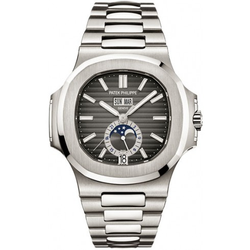 "Image of ""Patek Philippe Nautilus 5726/1A Steel Annual Calendar Mens Watch"""