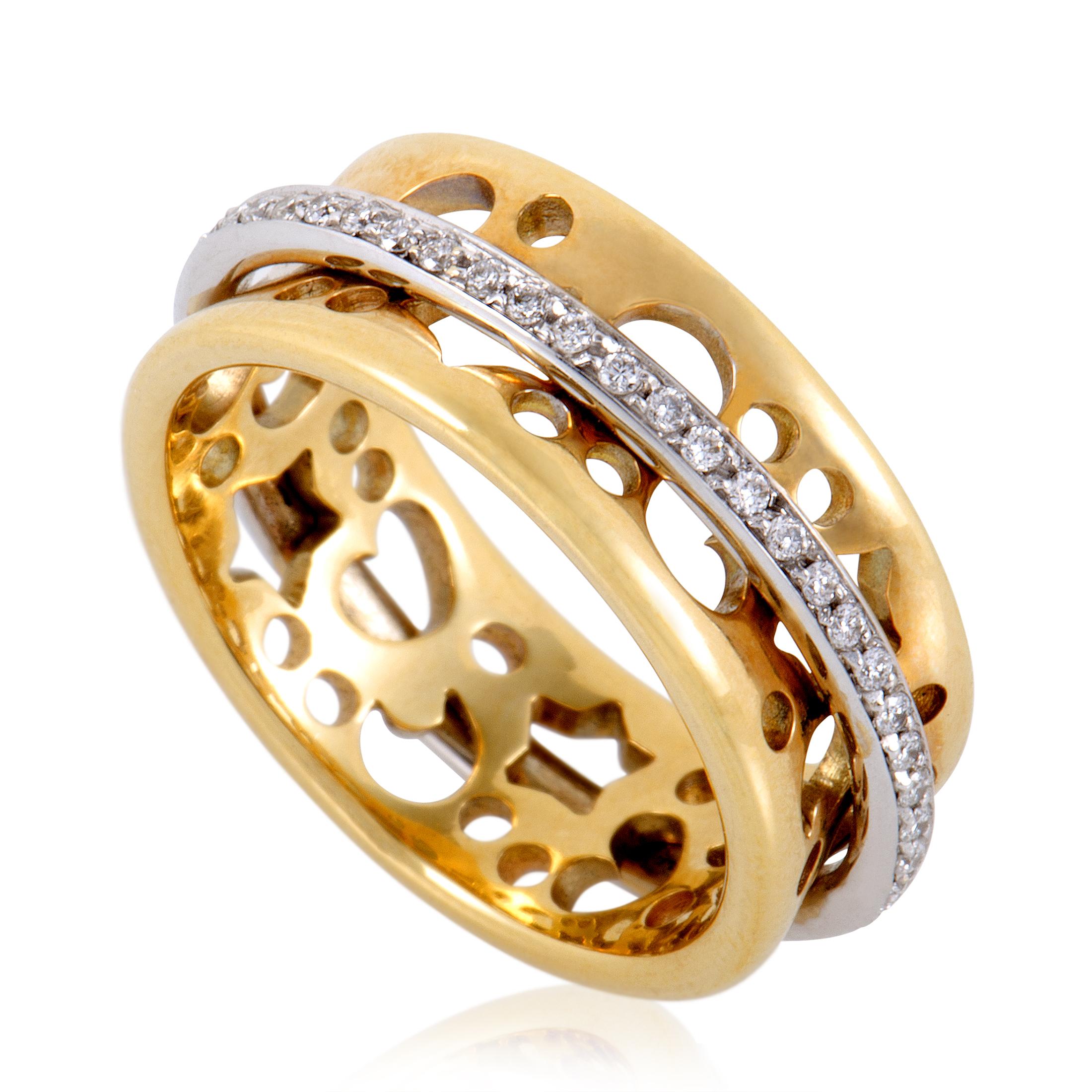 """""Pasquale Bruni Segni 18K Yellow and White Gold Diamond Band Ring Size"""""" 1364845"