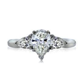Platinum GIA Certified 1.50ct Diamond Engagement Ring Size 4.5