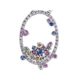 18kw Piero Milano Sapphire & Diamond Pendant