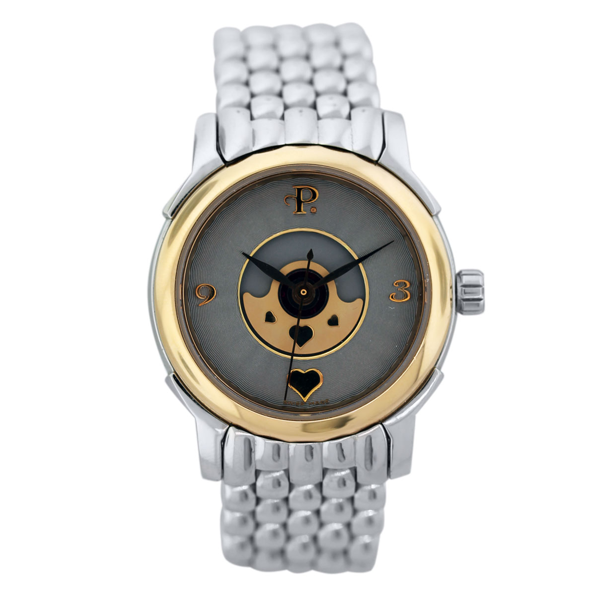 "Image of ""Perrelet Lady Coeur 640 Stainless Steel and 18K Yellow Gold 30mm"""