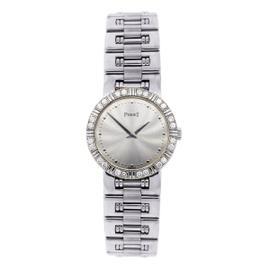 Piaget 18K White Gold Diamond Bezel Womens Watch