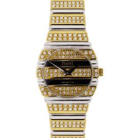 Piaget Polo 861C 18K Two Tone Diamond Ladies Watch
