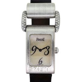 Piaget Miss Protocol 18K White Gold Diamond Womens Watch