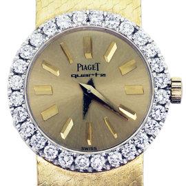 Piaget 18K Yellow Gold and Diamond Ladies Quartz Watch