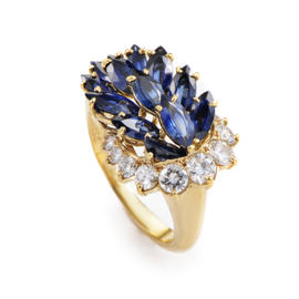 Piaget 18K Yellow Gold Diamond & Sapphire Ring
