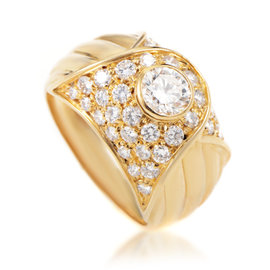 Piaget 18K Yellow Gold & 1.85ct Diamond Ring Sz 7