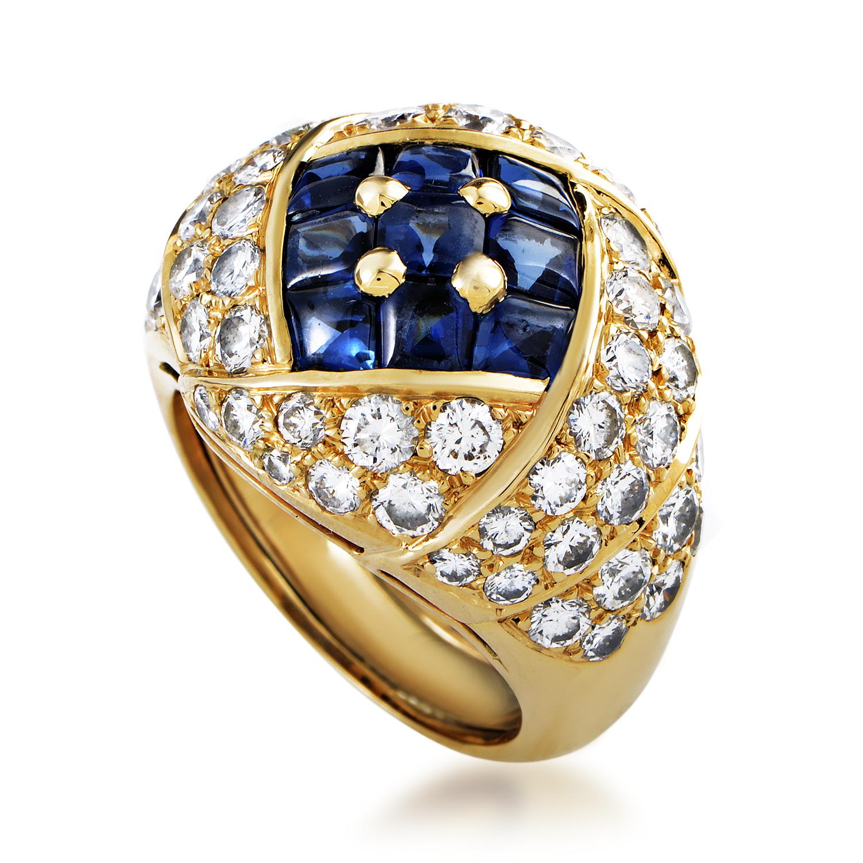 "Image of ""Piaget 18K Yellow Gold Diamond & Sapphire Ring"""