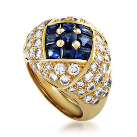 Piaget 18K Yellow Gold Diamond & Sapphire Ring