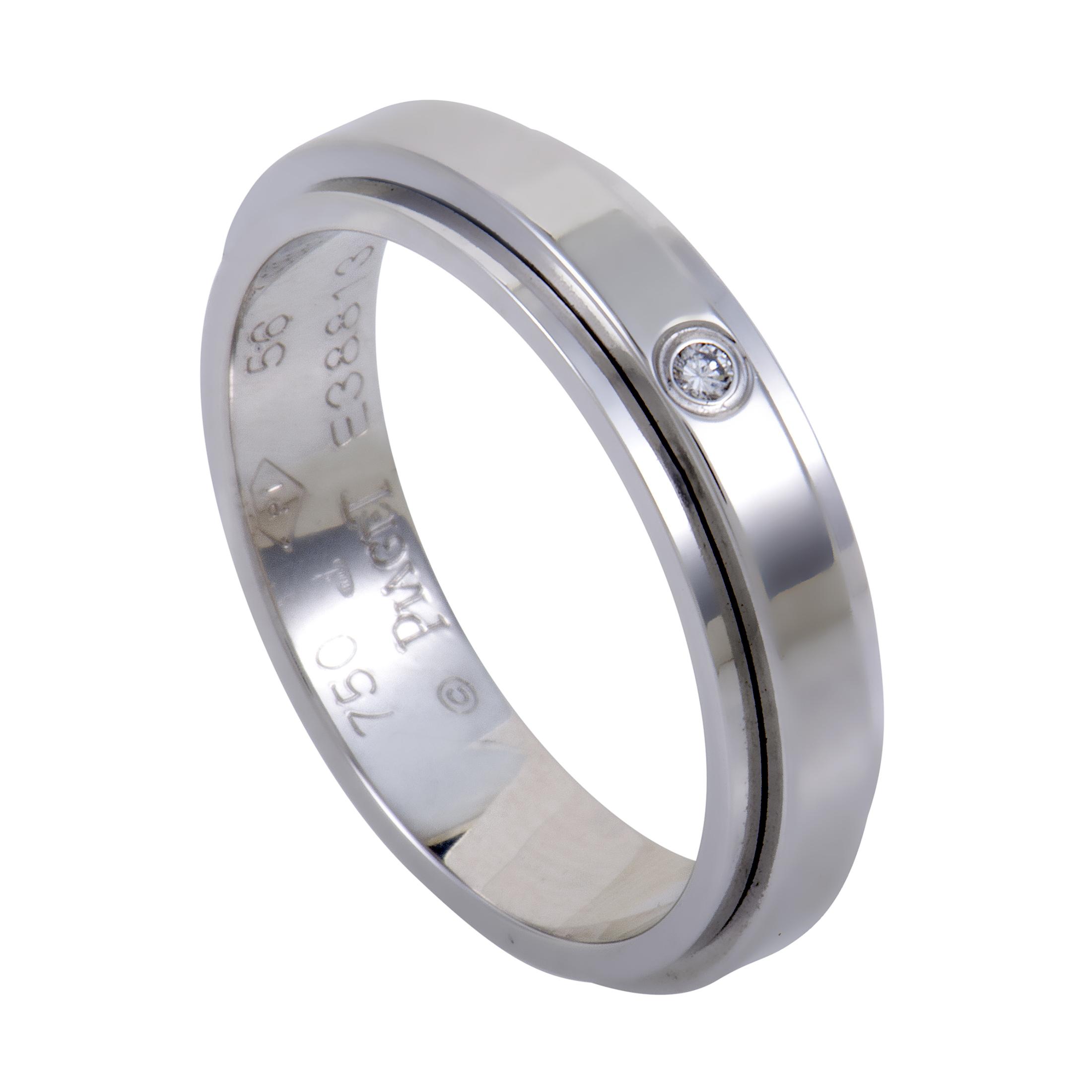 """Image of """"Piaget 18K White Gold & Diamond Band Ring"""""""