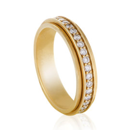 Piaget 18K Rose Gold and Diamond Revolving Band Ring Size 7.25