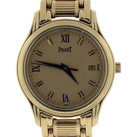 Piaget Contemporary Polo 18K Yellow Gold Womens Watch 29mm