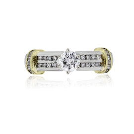 Platinum and 18K Yellow Gold with 0.40ct Diamond Engagement Ring Size 6.50