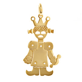 Pomellato 18K Yellow Gold Princess Pendant