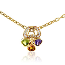 Pomellato 18K Yellow Gold Diamond & Multi-Gemstone Pendant Necklace