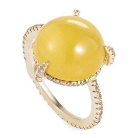 Preziosismi 18K Yellow Gold Diamond & Beryl Gemstone Ring