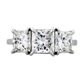 Platinum 3.5ctw Diamond Engagement Ring Size 6.5