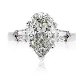 Platinum 3.77ct Diamond Engagement Ring Size 6.5