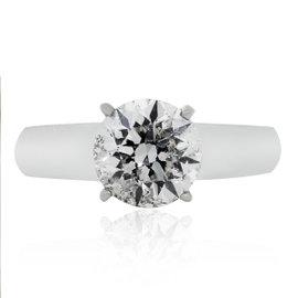 Platinum 2ct Solitaire Engagement Ring Size 6.5