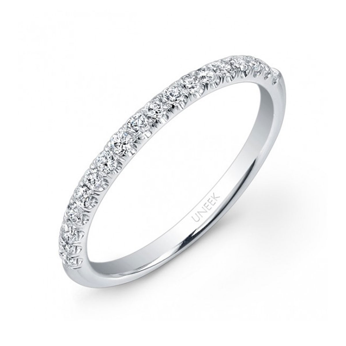 "Image of ""Uneek 14K White Gold & 0.22ct. Diamond Wedding Ring Size 6.5"""
