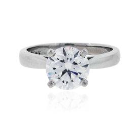 Platinum with 2ct Diamond Engagement Ring Size 6.25