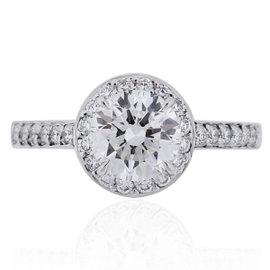 Tiffany & Co. Platinum & 0.94ct Diamond Engagement Ring Sz 3.75
