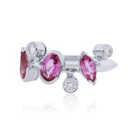 Cartier Meli Melo Platinum 0.24 Ct Diamond Pink Sapphire Ring