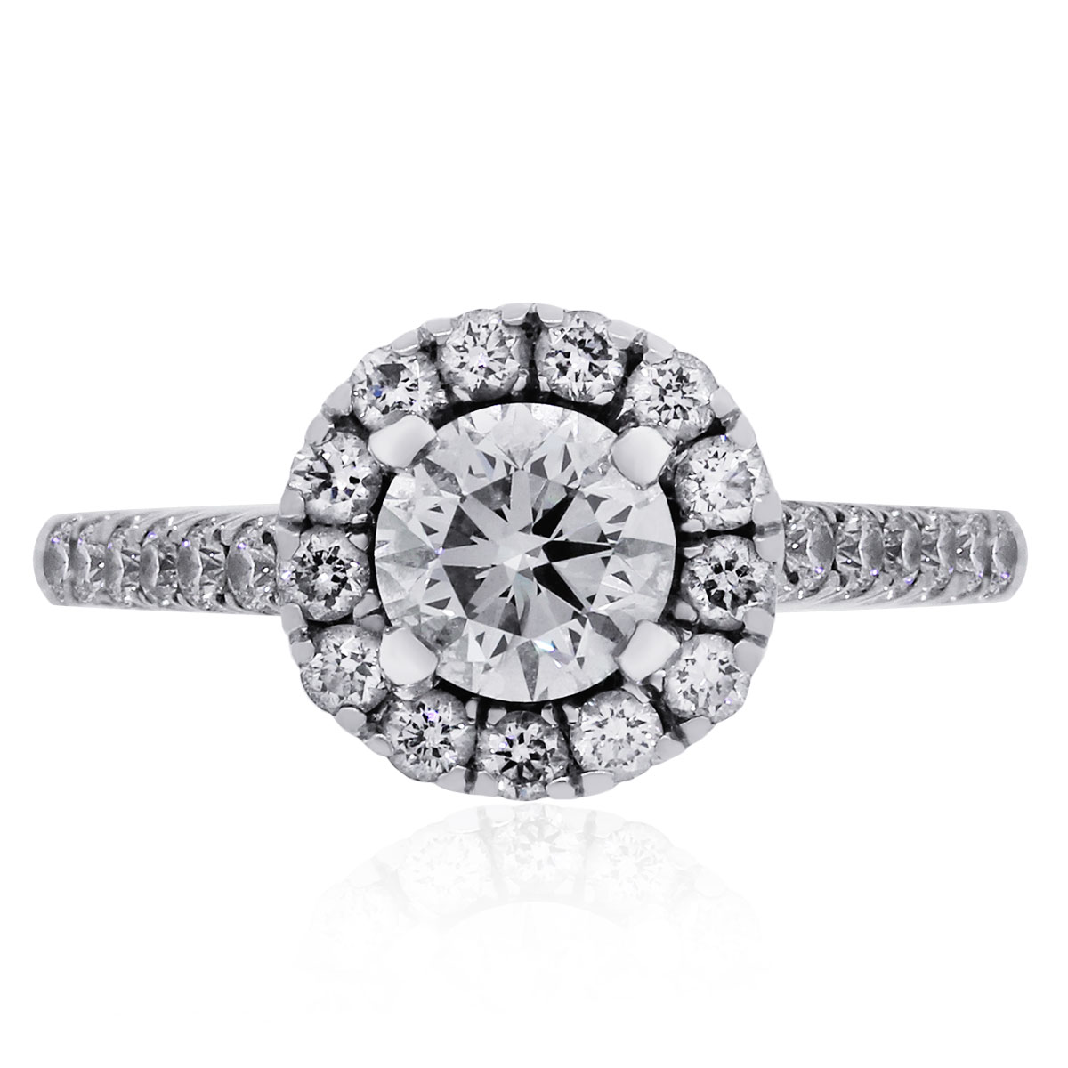 "Image of ""A. Jaffe 18K White Gold 0.50ctw Diamond Engagement Ring Size 4"""