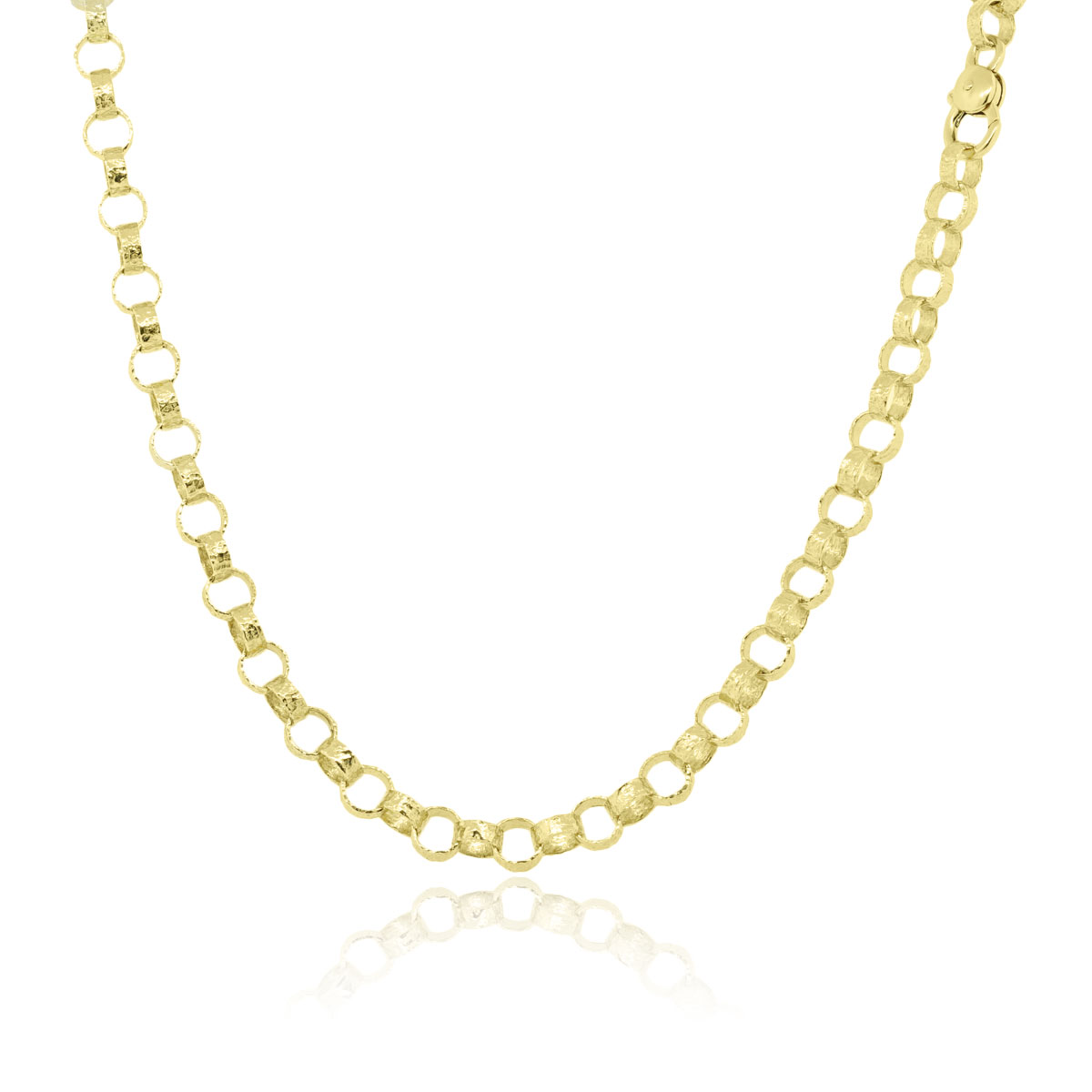 "Image of ""Torrini Firenze 18K Yellow Gold Hammered Link Necklace"""