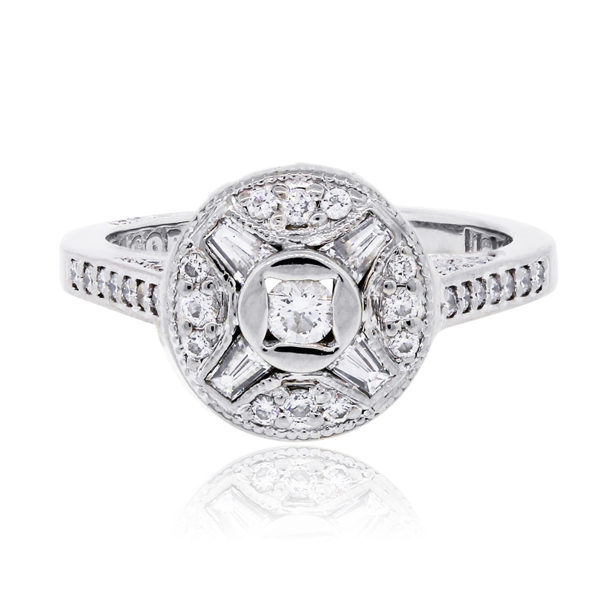 "Image of ""Tacori 18K White Gold 0.50ctw Diamond Ring Size 6"""