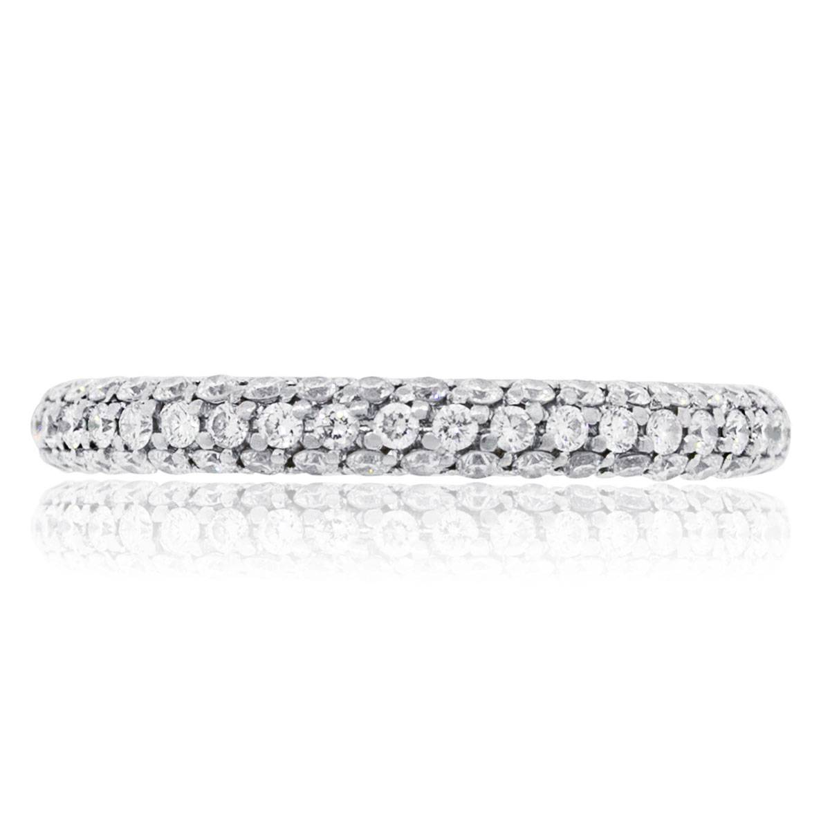 "Image of ""De Beers 18K White Gold 1.10ct Diamond Band Size 8"""